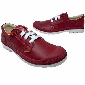 Palladium Blanc Ox Sneakers Red Low Top Shoes New